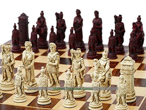 正規品販売! Roman and Ornamental Chess Set (cream and Chess red, board not included) included) B072LNJX6D, ロール紙ラベルの中川ダイレクト:f174c367 --- nicolasalvioli.com