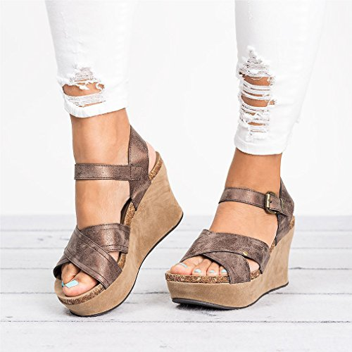 Toe Sandals Peep Verano Plataforma Tac Casual Sandalias Romanas Mujer Gladiador Minetom CnwqfAaa
