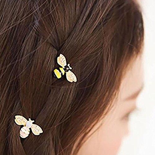 Phononey Horquilla para el Pelo en Forma de Abeja Clip de Metal Decoraci/ón Pinza para el Cabello Accesorios para el Peinado Mujer Ni/ñas