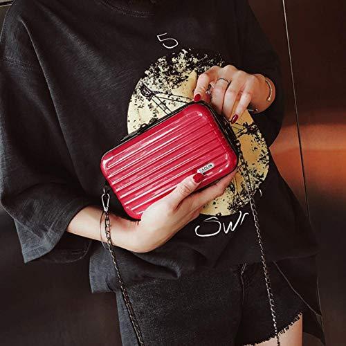 della della del tronco del del cuoio catena delle casuale a borsa Borsa di di elaborazione tracolla messaggero tracolla donne della sacchetto del dell'unità Red forma xY0ZxPwq