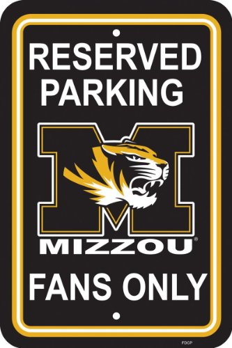 NCAA Missouri Tigers 12-by-18 inch Plastic Parking Sign ()
