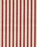 French Country Ticking Stripe Crimson Red Small Tootsie Roll Pillow 30 inches x 8.5 inches