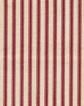 French Country Crimson Red Ticking Stripe 96 Inch Long Cotton Curtain Panels Pair (Lined)
