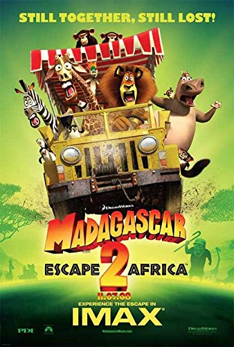 Madagascar: Escape 2 Africa POSTER Movie (2008) Style F 11 x 17 Inches - 28cm x 44cm (Ben Stiller)(Sacha Baron Cohen)(Jada Pinkett Smith)(David Schwimmer)(Chris Rock)(Cedric the Entertainer)(Tommy 'Tiny' Lister) (Madagascar Movie Poster)