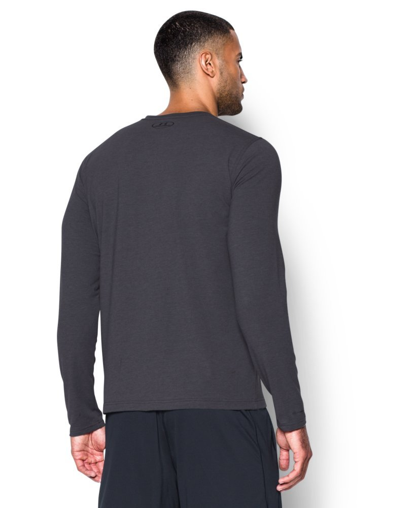 Under Armour Men's Sportstyle Long Sleeve T-Shirt, Carbon Heather /Black, Small by Under Armour (Image #2)