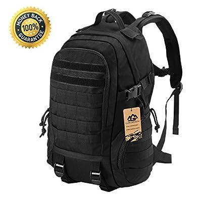 LuKaiSen Military Tactical Backpack Rucksacks Survival Gear Bag Men Women Kids Large Molle Waterproof Daypack for Army Camping Gym Hiking Trekking 40L 1050D Nylon