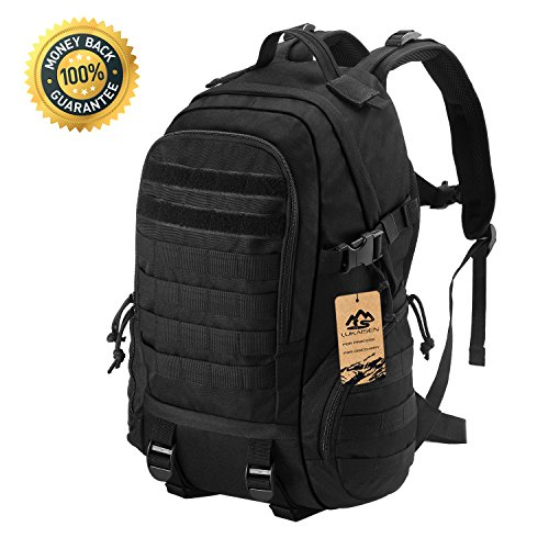 LuKaiSen Military Tactical Backpack Rucksacks Survival Gear Bag Men Women Kids Large Molle Waterproof Daypack for Army Camping Gym Hiking Trekking 40L 1050D Nylon by LuKaiSen