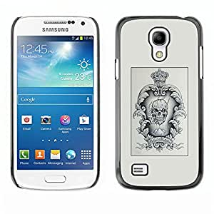 Shell-Star Art & Design plastique dur Coque de protection rigide pour Cas Case pour SAMSUNG Galaxy S4 mini VERSION! / i9190 / i9192 ( Poster Vignette Skull Crown King )