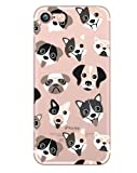 iPhone 7 Plus , Colorful Rubber Flexible Silicone Case Bumper for Apple Clear Cover - Dog Puppy Lover (Puppy Dog Toungues Out)