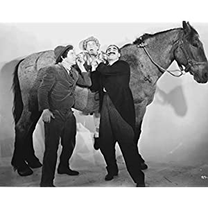 "Globe Photos ArtPrints Marx Brothers Standing In Classic Portrait With Horse - 10"" X 8"" Pop Culture Art Photographic Full Bleed Print - Premium Paper"