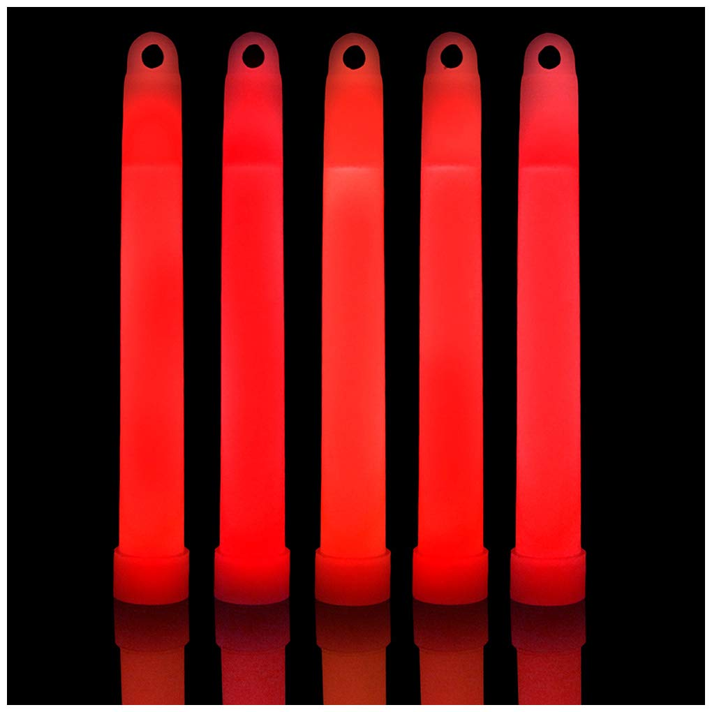Lumistick 6 Inch Glow Sticks Chem Lights with Flat Bottom | Premium Industrial Grade Glowstick Rods 15mm | NonToxic Great for Events, Parties, Camping and More (Red, 500) by Lumistick (Image #1)