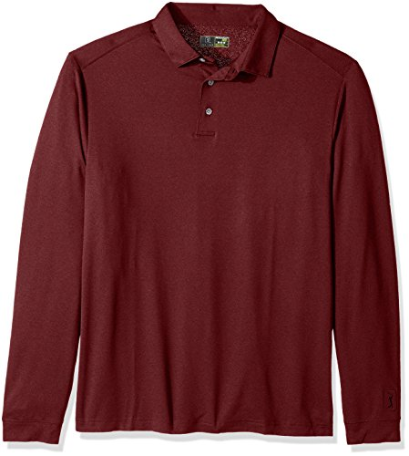 PGA TOUR Men's Airflux Long Sleeve Polos
