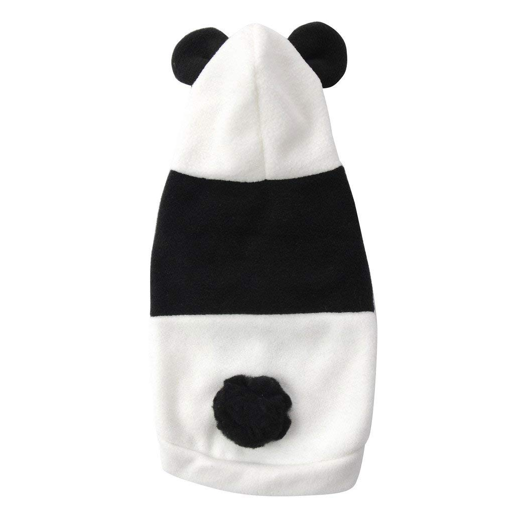 S WLDD Cute Pet Clothes Panda Baby Clothes Black And White Panda Dress Up 2019 Autumn And Winter Dog Clothes (Size   S)