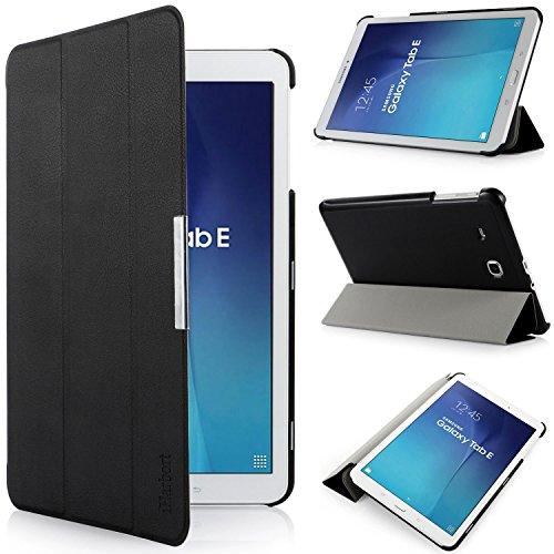 iHarbort® Samsung Galaxy Tab E 9.6 Hülle - Ultra Slim Leder Tasche Hülle Etui Schutzhülle Für Samsung Galaxy Tab E 9.6 Zoll T560 T565 Case Cover Holder(Galaxy Tab E 9.6, schwarz)