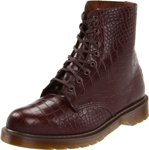 Dr. Martens Men's Pascal Boot,Cherry Red Croco,8 UK/9 M (Croco Print Shoe Boot)