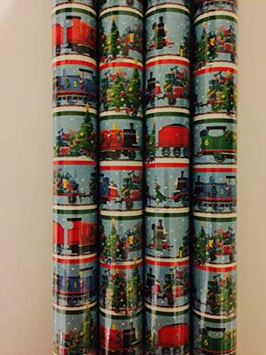 Gift Wrap - Thomas and Friends Holiday Themed Wrapping Paper - 1 Roll - 20 sq feet -