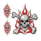 Pilot Automotive LT-06006 Red Flame Skull Graphic