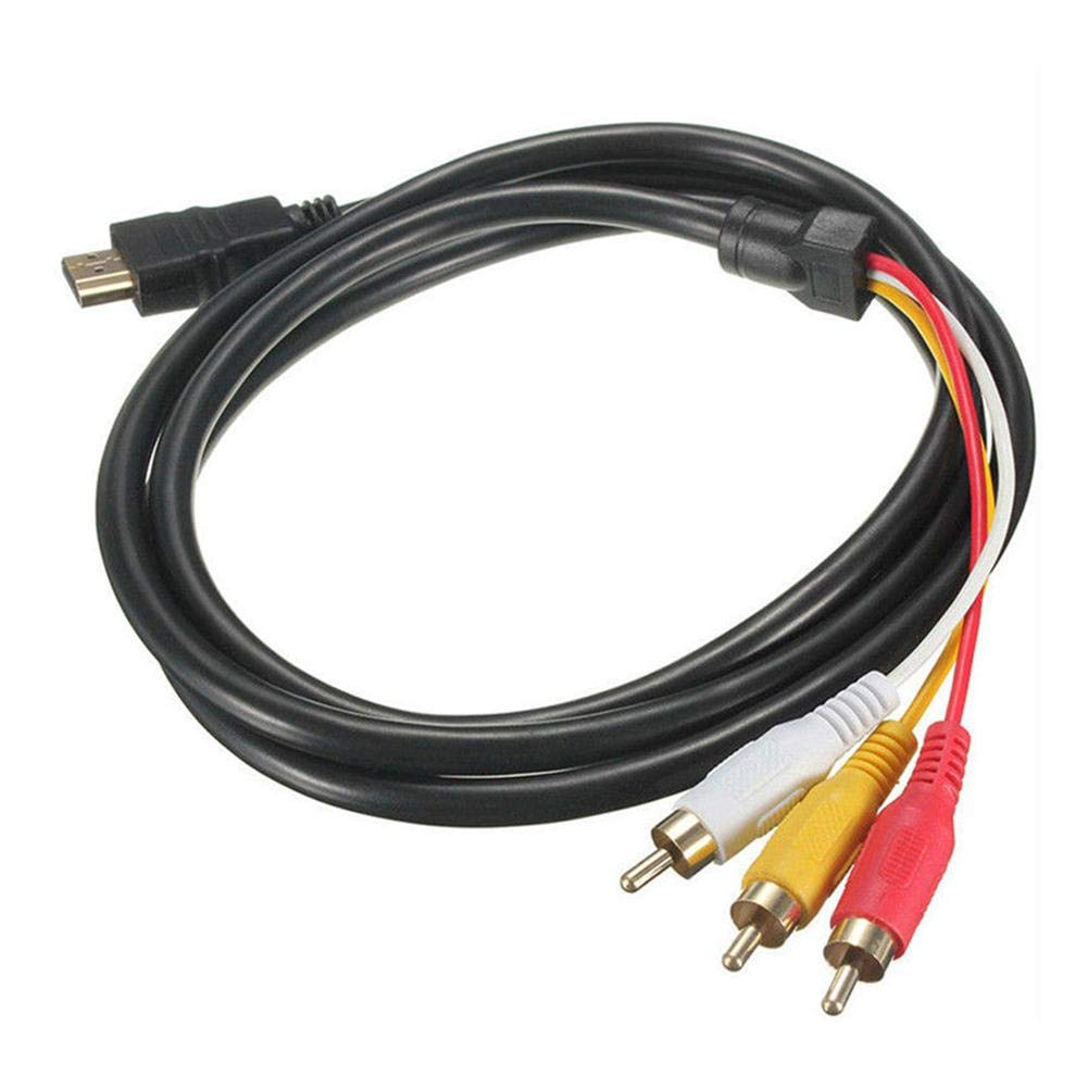 5Ft HDMI to 3-RCA Video Audio AV Component Converter Adapter Cable for HDTV
