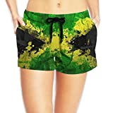 2018 pants Flag Grunge Summer Swim Surf Quick Dry Beach Board Shorts Gym Beach Hot Pants with Pockets for Women