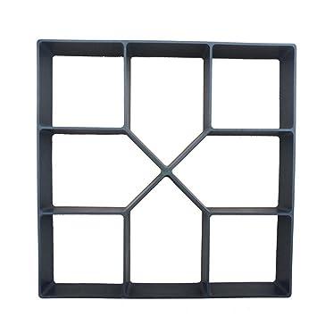 BESTOMZ Plástico DIY Path Maker molde cuadrado manualmente pavimentación de cemento moldes de ladrillo para decoración de jardín (negro): Amazon.es: Hogar