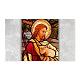 3' x 5' Area Rug Jesus Christ Lamb Stained Glass