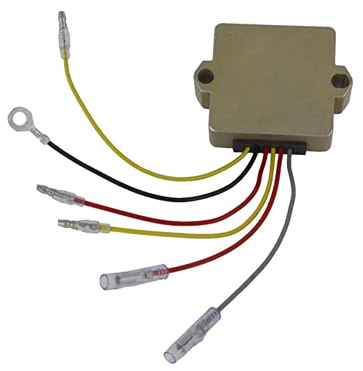 51yWeo0Q6hL._SX522_ amazon com lactrical new voltage regulator fits mercury marine 1955 Chevy Voltage Regulator Wiring Diagram at readyjetset.co