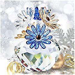 Multicoloured Crystal Daisy Flower Figurines Collectibles Ornament