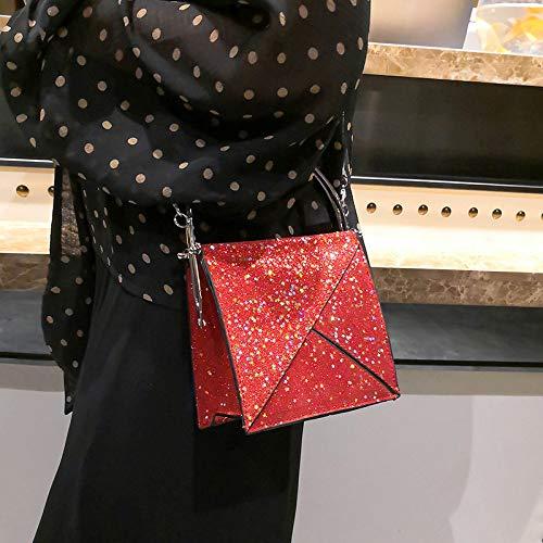 bandoulière fourre à carrés GSHGA Simple Petits Couture Sac poignée Sacs supérieure à Main Sac Tout chaîne Diagonale Femelle Paillettes à XOnqOTzw