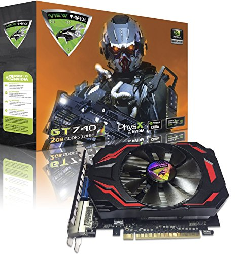 Dual Video Cards Sli (ViewMax NVIDIA GeForce GT 740 2GB GDDR5 128 Bit PCI Express (PCIe) DVI Video Card HDMI & HDCP Support DROID ENFORCER EDITION)