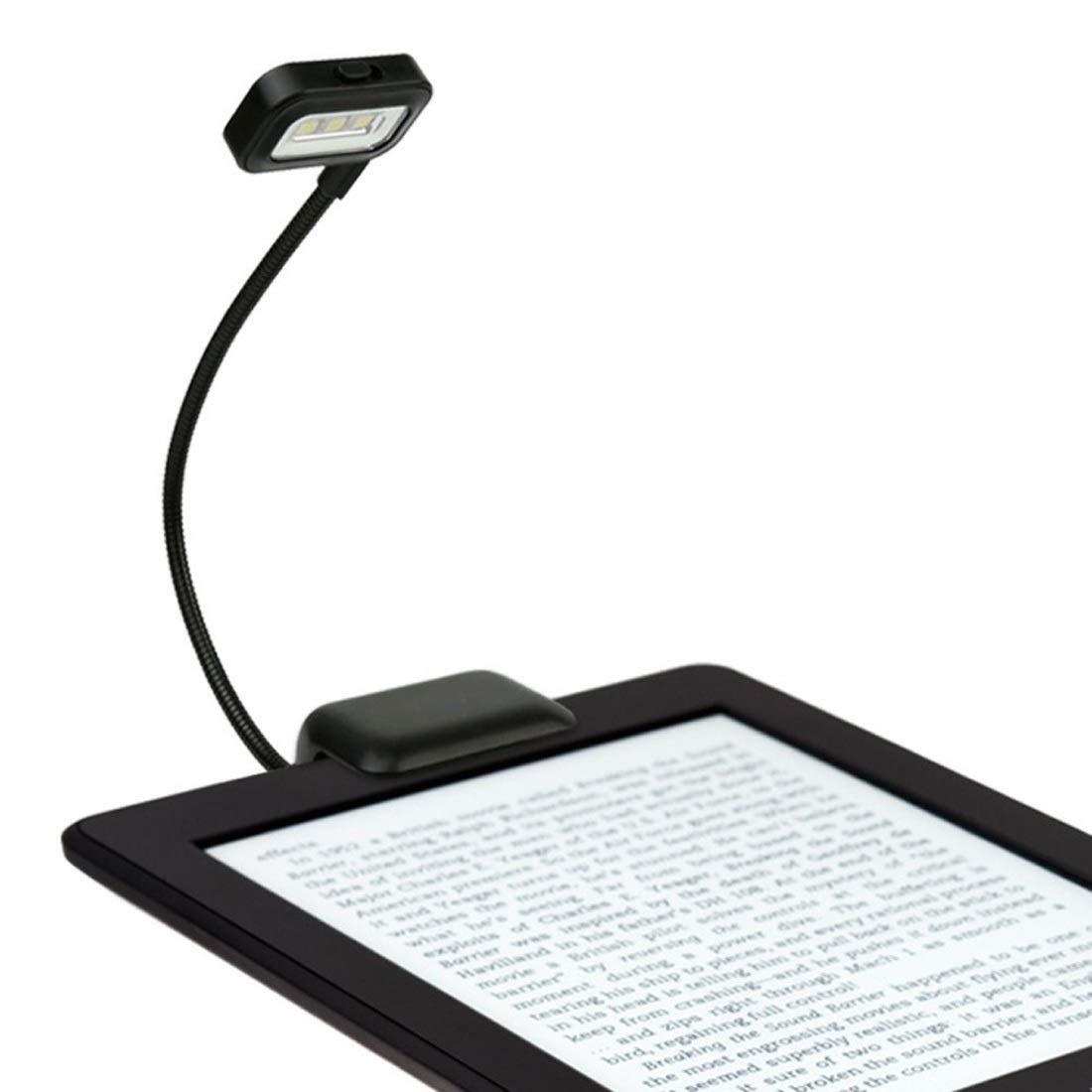 Lámpara portátil Mini clip flexible con luz de lectura Lámpara de ...