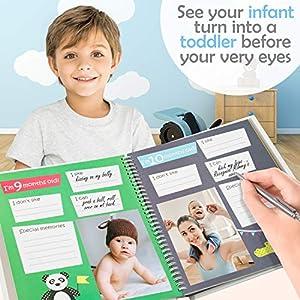 Baby Memory Book – First 5 Years Photo Album, Journal...