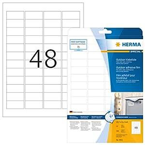 Herma 9531 - Etiquetas, 45.7 x 21.2 mm, color blanco