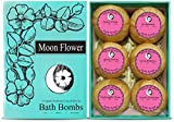 Image of Moon Flower Six Organic Handmade Large and Lush Bath Bomb Gift Set