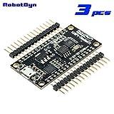 RobotDyn - 3 PCS - Compact NodeMCU V3 Lua WIFI module integration of ESP8266 + memory 32Megabit flash, USB-serial CP2102. …