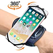"Sports Wristband, Comsoon 360° Rotatable Forearm Armband Phone Holder for iPhone XS Max/XR/8 Plus/8, Galaxy Note9/S9 Plus/S9 & Other 4""-6.5"" Smartphone, with Key Holder for Biking Jogging"