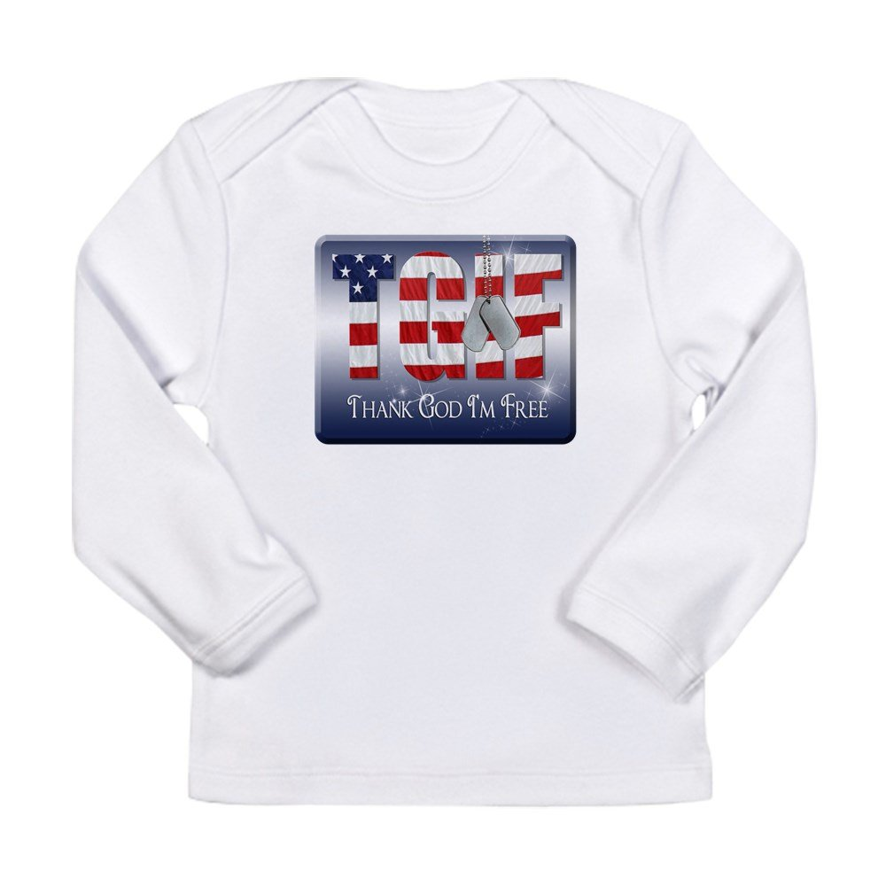 Truly Teague Long Sleeve Infant T-Shirt Thank God Im Free 12 To 18 Months Cloud White