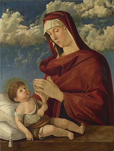 Valli Workshop - polyster Canvas ,the Amazing Art Decorative Prints on Canvas of oil painting 'Workshop of Giovanni Bellini The Virgin and Child (1) ', 8 x 11 inch / 20 x 27 cm is best for Bathroom decor and Home decoration and Gifts