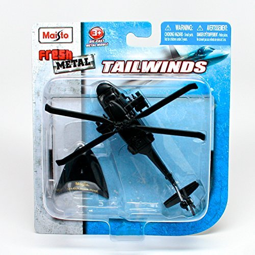 Sikorsky UH-60 Black Hawk Four-Bladed Medium-Lift Utility Helicopter * Tailwinds * 2011 Maisto Fresh Metal Series Die-Cast Airplane Collection
