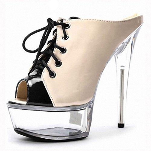 Transparent Cheville Natural Mariage Femmes 15 Talon Brillantes De De Chaussures Sandales Strappy Toe Haut Pompes Bracelet Kitzen Dames Cm Peep Stilettos Flop Flip Mode Talon De zHqWgwB4wR