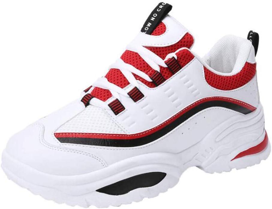 Y-H - Zapatillas de Running para Hombre whitered 44: Amazon.es: Jardín