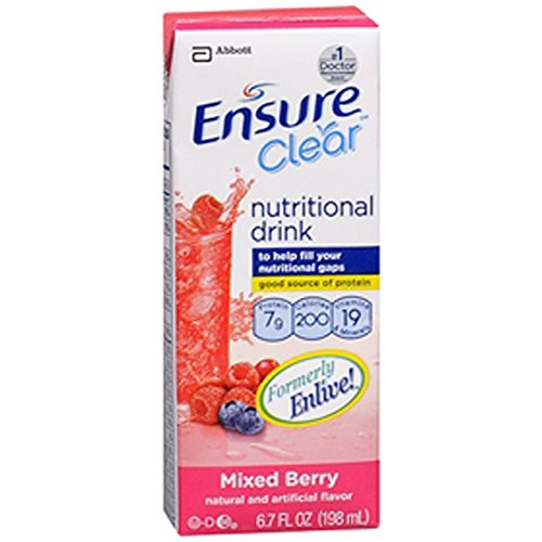 Abbott Ensure Clear Liquid Nutrition Ready-To-Use, Mixed Berry, 32 Count