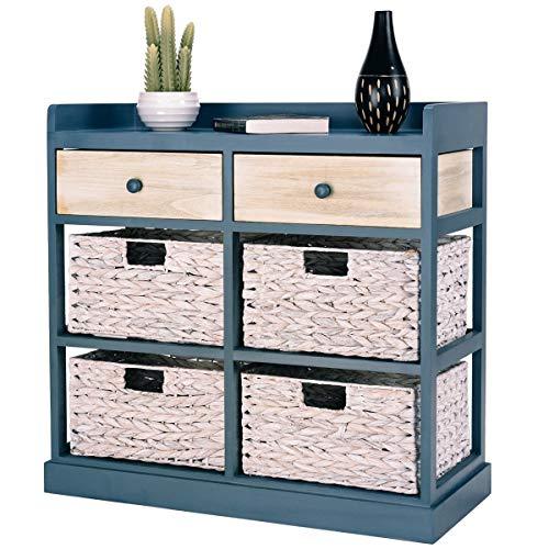 wood basket cabinet - 5