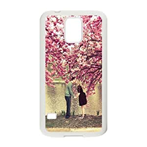 Samsung Galaxy S5 Case, Kissing Couple on Lake Shock Absorbent Case for Samsung Galaxy S5 {White}