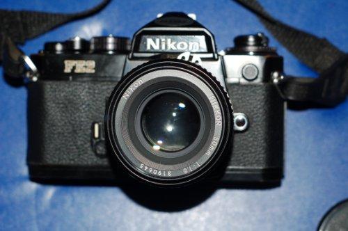 Nikon FE2 camera with Nikkor 50m 1:1.8 Lens