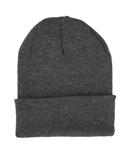 Charcoal Skull Cap (JOTW Beanie Hats Assorted Colors Long Skull Caps (Charcoal Gray))