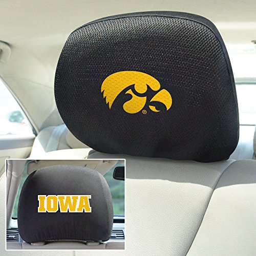 Ncaa Headrest Covers (FANMATS NCAA University of Iowa Hawkeyes Polyester Head Rest Cover)