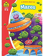 School Zone - Mazes Workbook - 64 Pages, Ages 4 to 6, Preschool, Kindergarten, Maze Puzzles, Wide Paths, Colorful Pictures, Problem-Solving, and More (School Zone Activity Zone Workbook Series)
