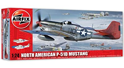 Airfix North American Aviation P-51D Mustang Model Kit (1:24 Scale)