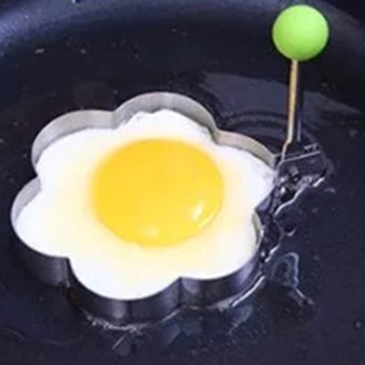 Plum Blossom Stainless Steel Form for Frying Eggs Tools Breakfast Omelette Mold Device Pancake Ring Egg Shaped Kitchen Tool Plum Blossom