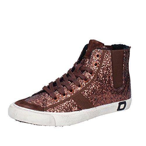 D.A.T.E. Date Sneakers Mujer 37 EU Bronce Glitter